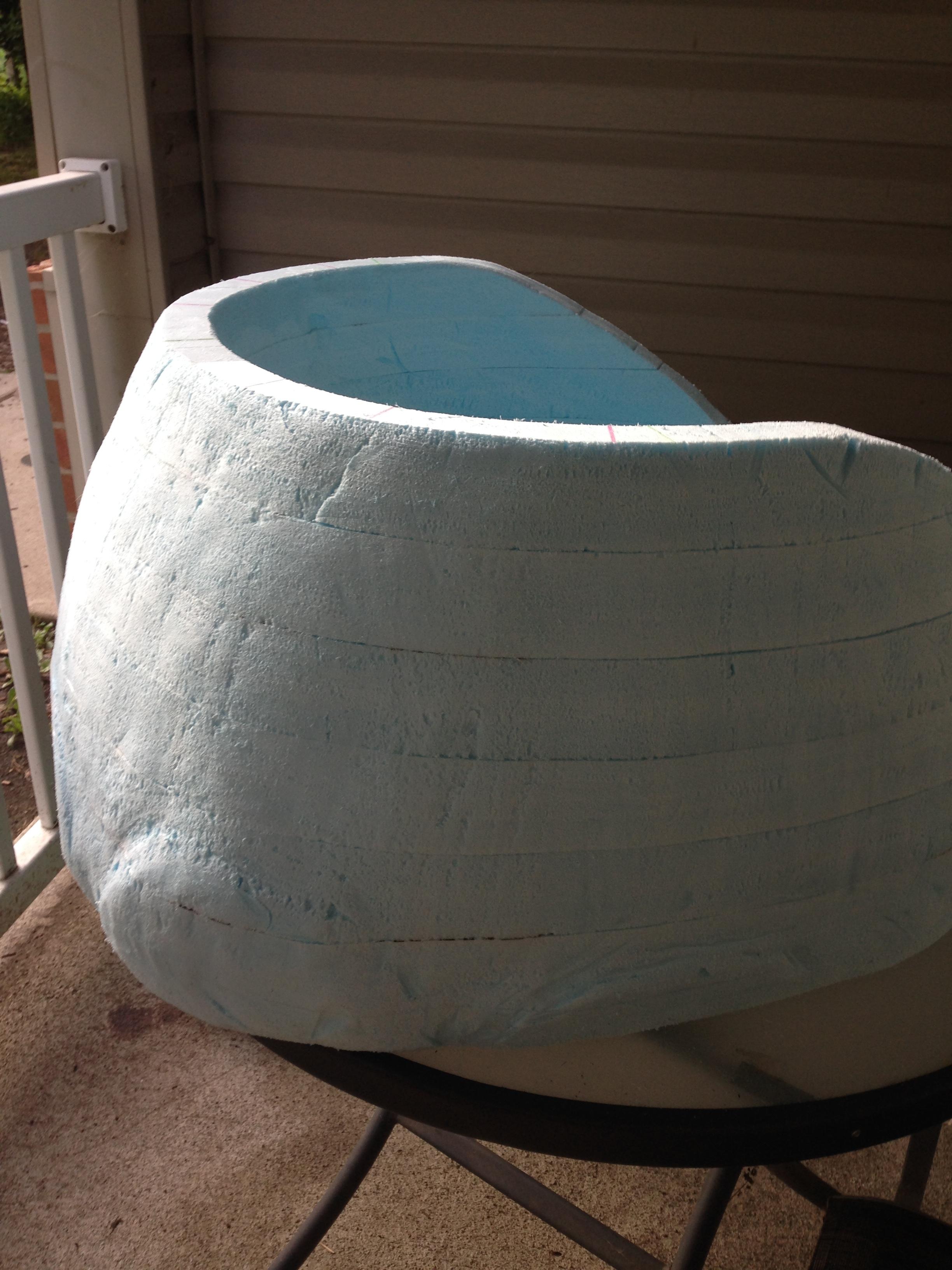 Ready for foam coat