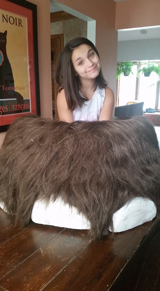 Mammoth foot with little sister for scale!