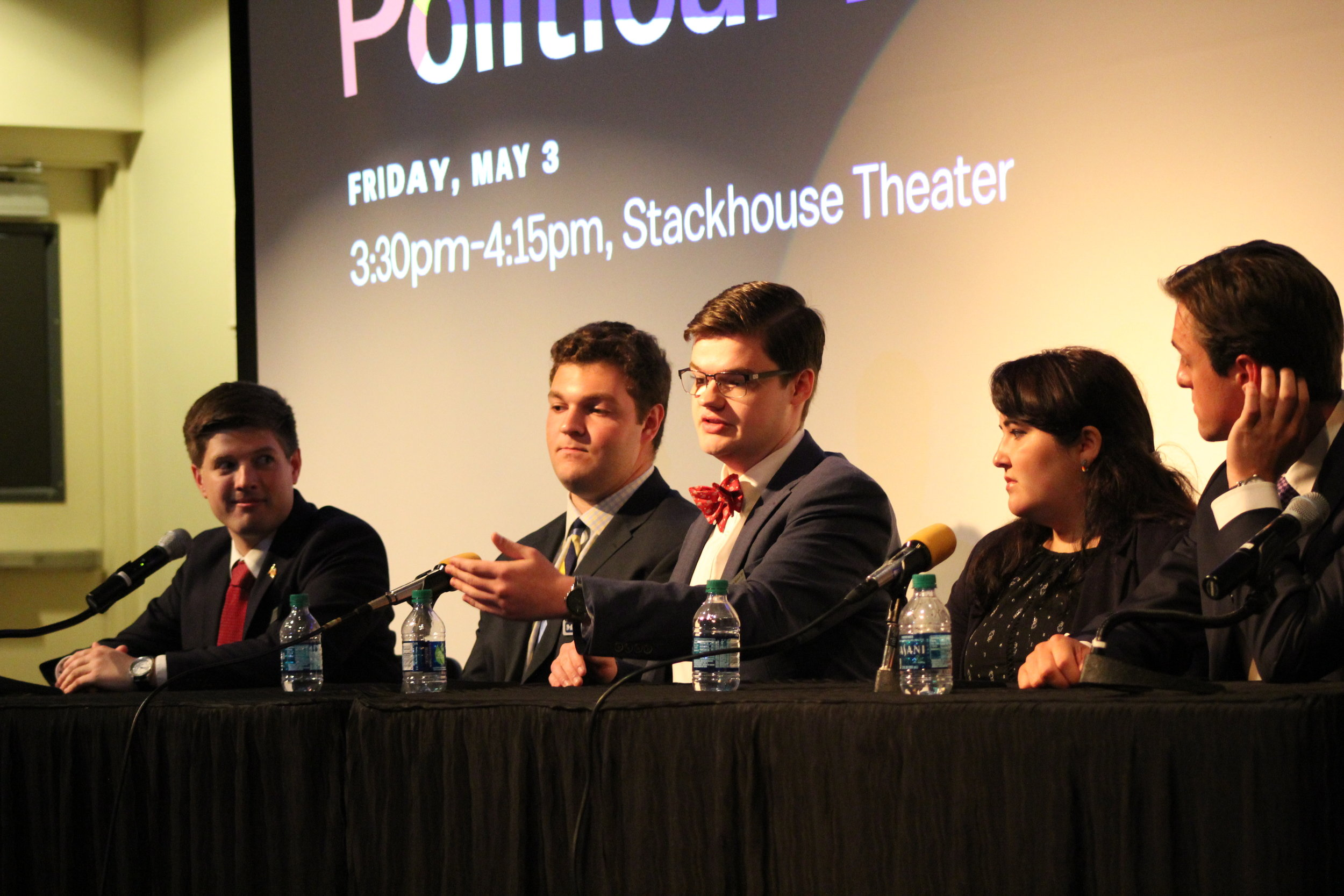 The Political Team engages in a Q&A with audience members prior to John Heilemann speaking.