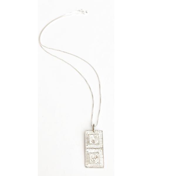 "Lexington Brick Mock Con 18"" Pendant Necklace"