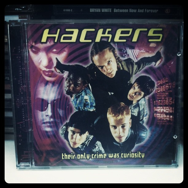 """  Hackers   is a 1995 American  crime  film directed by  Iain Softley  and starring  Jonny Lee Miller ,  Angelina Jolie ,  Renoly Santiago ,  Matthew Lillard ,  Jesse Bradford ,  Lorraine Bracco , and  Fisher Stevens . The film follows a group of high school  hackers  and their involvement in a corporate extortion conspiracy.""  wikipedia"