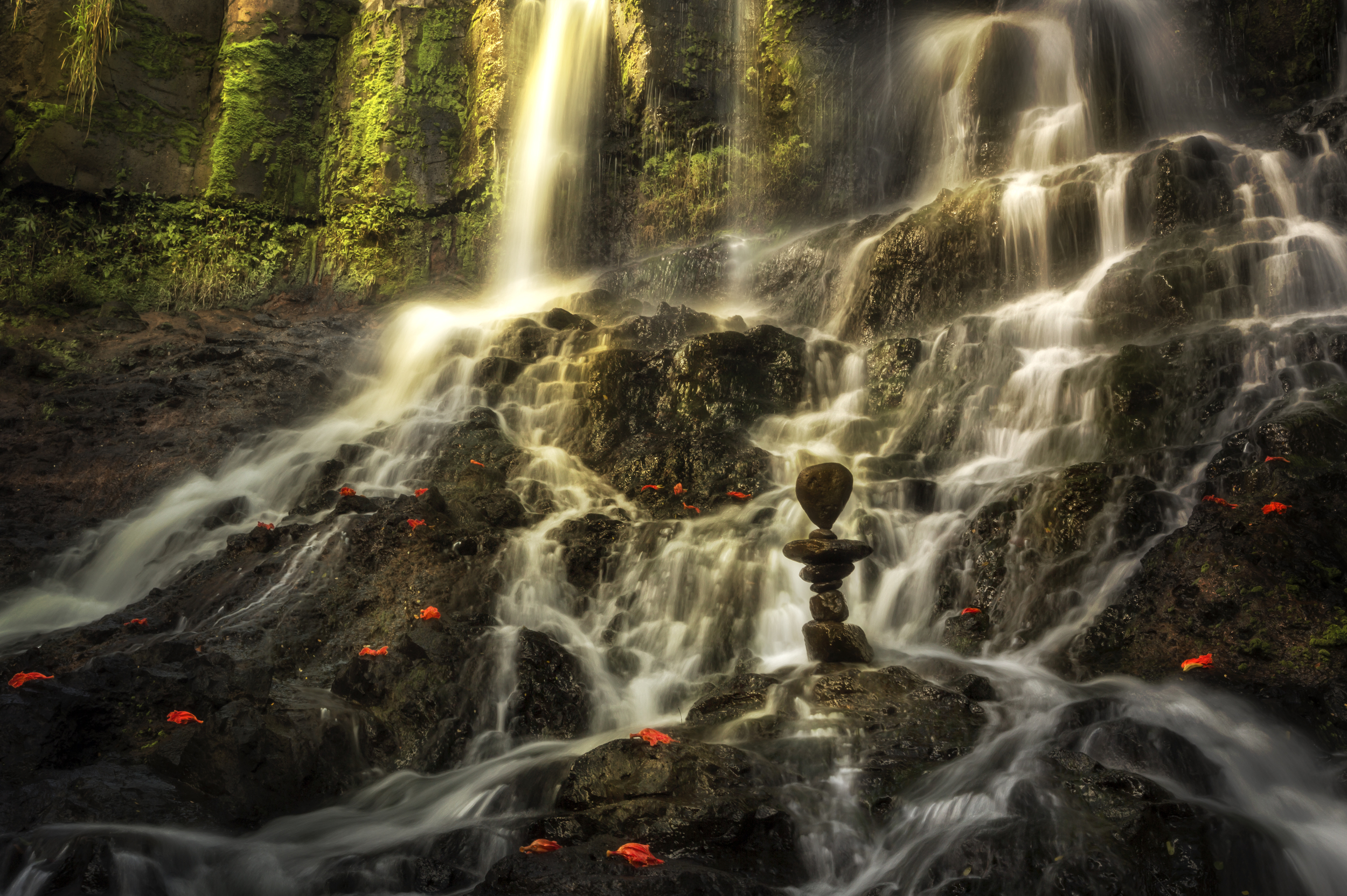 Maluhia (tranquility) - lower Hoopii Falls - Winner of the Steinhart Award; Art Kauai 2014, Kauai Society of Artists