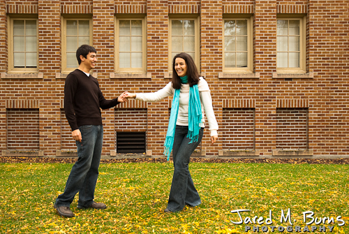 Seattle Engagement Photographer, Jared M. Burns - Couple dancing