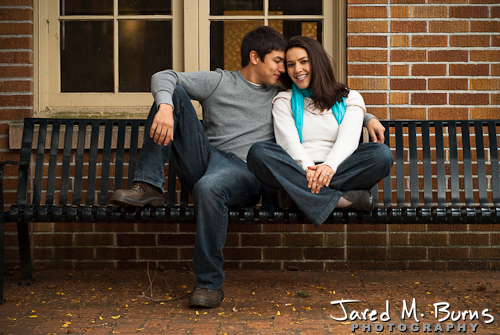 Seattle Engagement Photographer, Jared M. Burns - Couple sitting