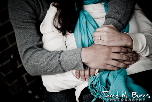Seattle Engagement Photographer, Jared M. Burns - Holding each other