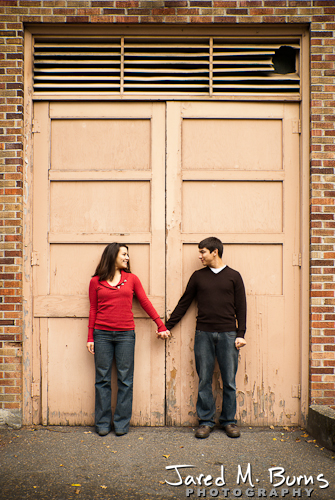 Seattle Engagement Photographer, Jared M. Burns - Couple holding hands