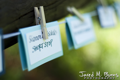 Mountain Springs Lodge Leavenworth Wedding Photographer - Table assignments