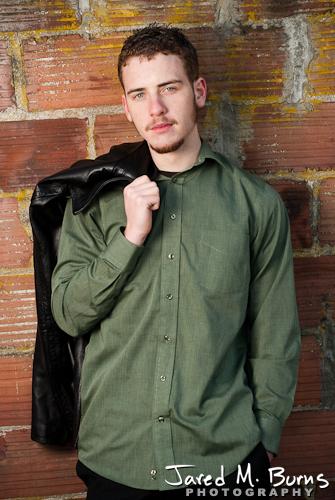 Duvall Cedarcrest Senior Guy Portrait Photographer - Carnation - Yearbook photo brick wall