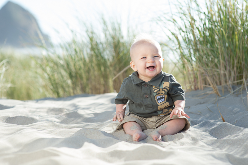 Snohomish Family Photographer - Canon Beach Baby Portrait