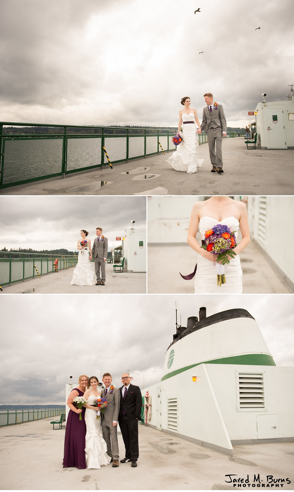 Kyle & Stephanie - Echo Falls and Washington Ferry Wedding Photographer - Jared M. Burns Photography 6