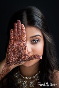 Seattle Wedding Photographer, Jared M. Burns - Henna Mehndi Portrait.jpg