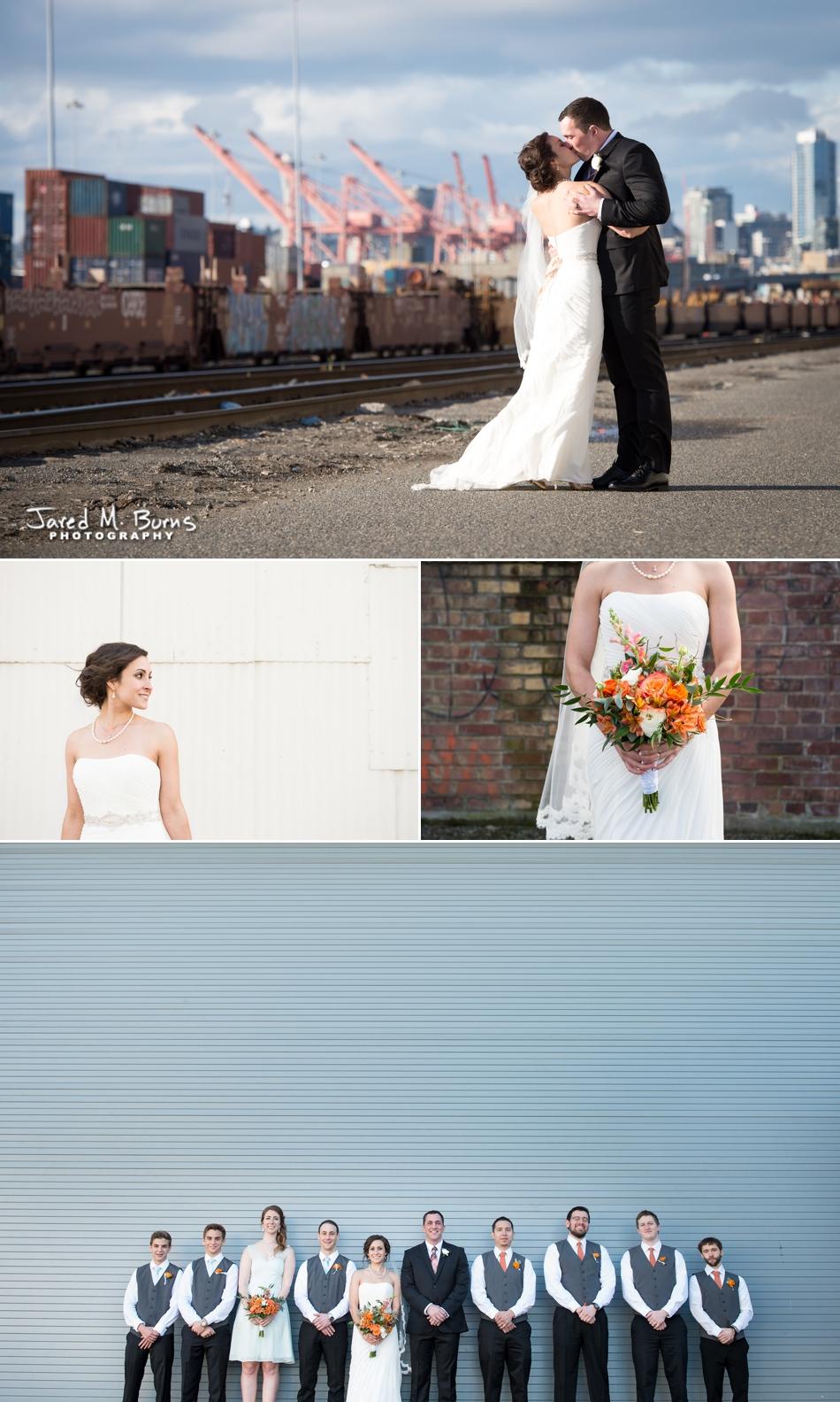 Seattle Wedding Photographer, Jared M. Burns - Sodo wedding near Seattle train yards
