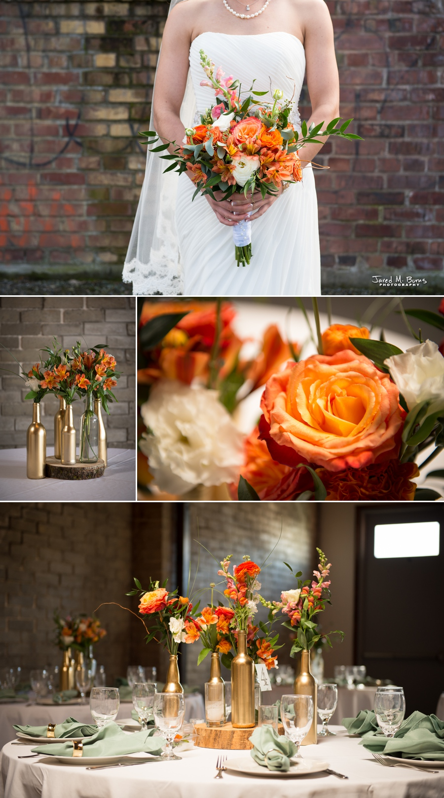 Seattle Wedding Photographer, Jared M. Burns - Within Sodo Bride Bouquet flowers
