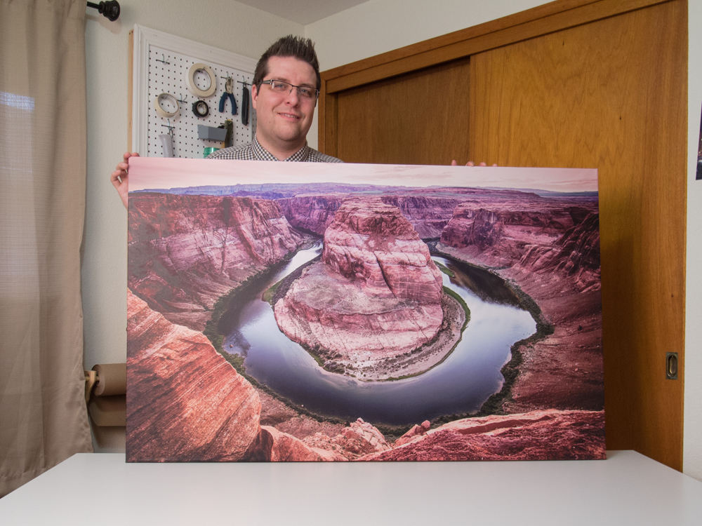 (The photo doesn't do it justice...this canvas of Horseshoe Bend at Marble Canyon Arizona is beautiful!)