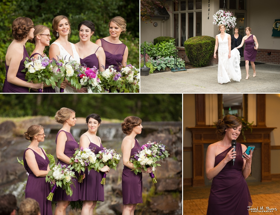 Bride and Maid of Honor at the Echo Falls Wedding Venue near Seattle