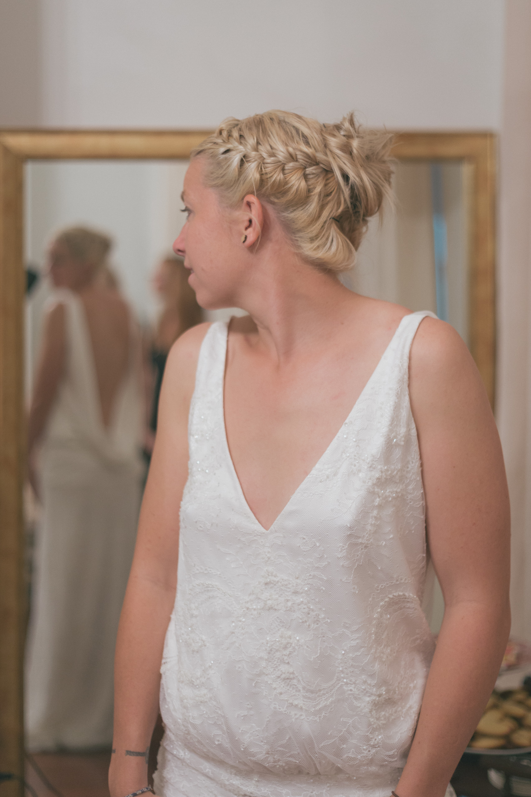 My Friend Kobi in a Charlie Brear gown looking loverly
