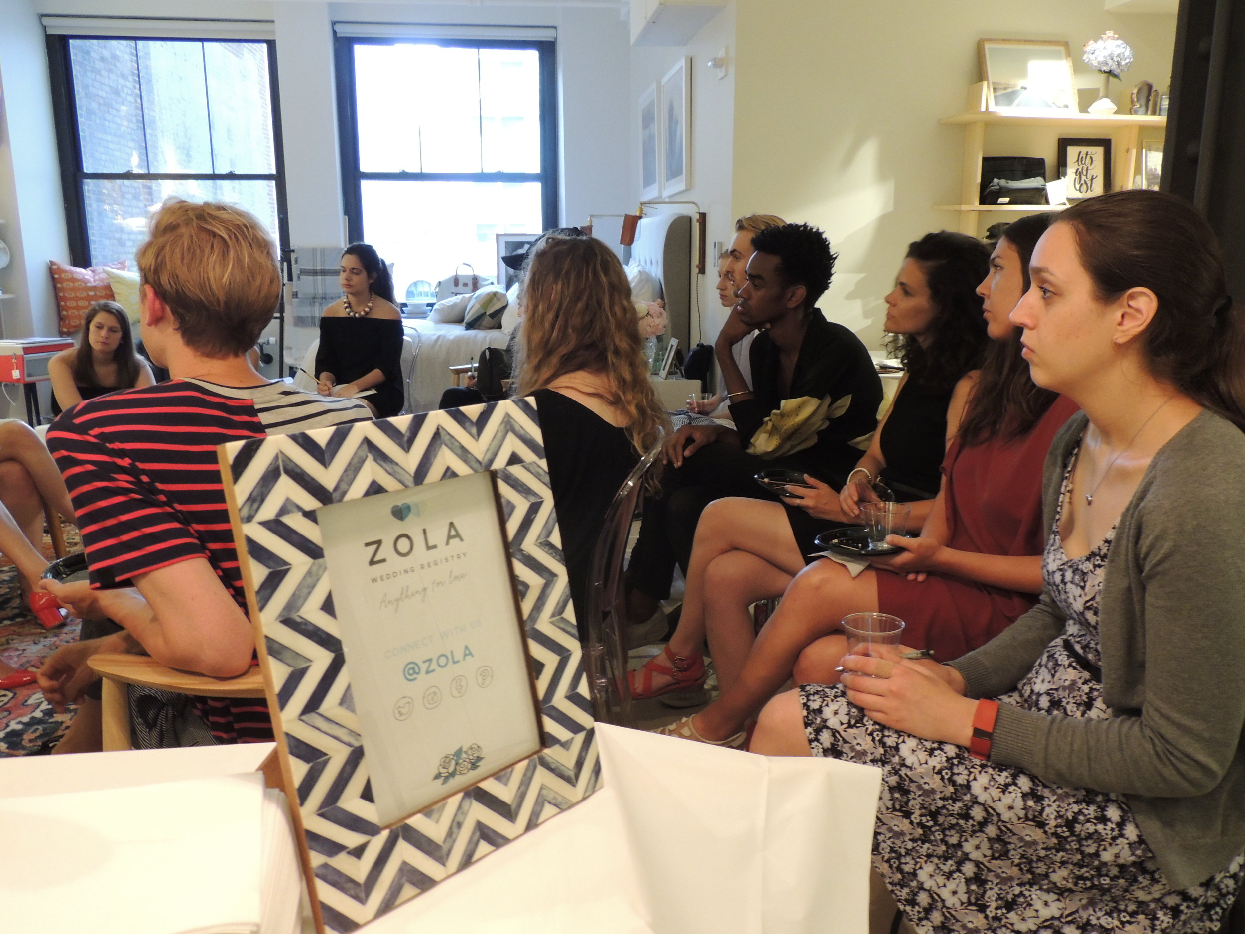 """Can you tell us about the background of the company and how it got started?"" Marlena inquired.  Rachel went on to share some information about Zola's CEO and what inspired her to create this business. ""Our CEO, Shan-Lyn Ma, founded our company. Approximately four years ago, she was invited to ten weddings in one year. She had to buy gifts for all of these friends of hers off their wedding registry. She went to purchase these gifts and found that this was the worst e-commerce experience she had ever had,"" Rachel said. ""Shan had worked at Gilt and had built the iPhone app for that company. From her experience there, she was a visionary product leader. Reflecting on the wedding registry experience she had, she realized that not only did she not like it, but her friends didn't enjoy the process either. She decided to recreate the wedding registry process using technology to make registry a completely different and much better experience. She started out with her new business idea and got immediate traction with new couples who found this to be a more modern way to register.  ""On our platform, you can register for cash, experiences, and product – all in once place. Traditionally, you would have to go to a different place for each of these things. On Zola.com, you can also choose when your gifts ship to you. Instead of coming back from your honeymoon to a hundred packages you weren't ready for, Zola allows you to control when those gifts get to you. You can even return a gift before it gets to you. If your grandma buys you a gift you don't love, before the item comes to you, you'll receive an email asking you whether you'd like to keep or exchange the gift. If you want to exchange it, you can do it for a credit on our site. We are solving real customer pain points, and continue to do so."""