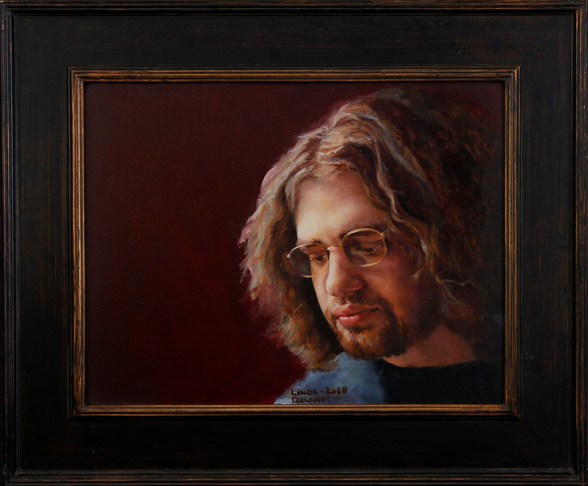 Portrait of Evan by Linda Dulaney, Oil on Canvas, 2010