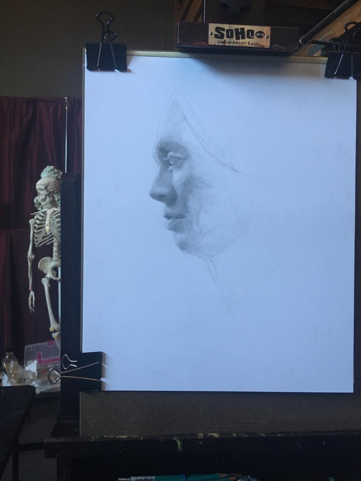Linda Drawing of Shakti on Bristol one day