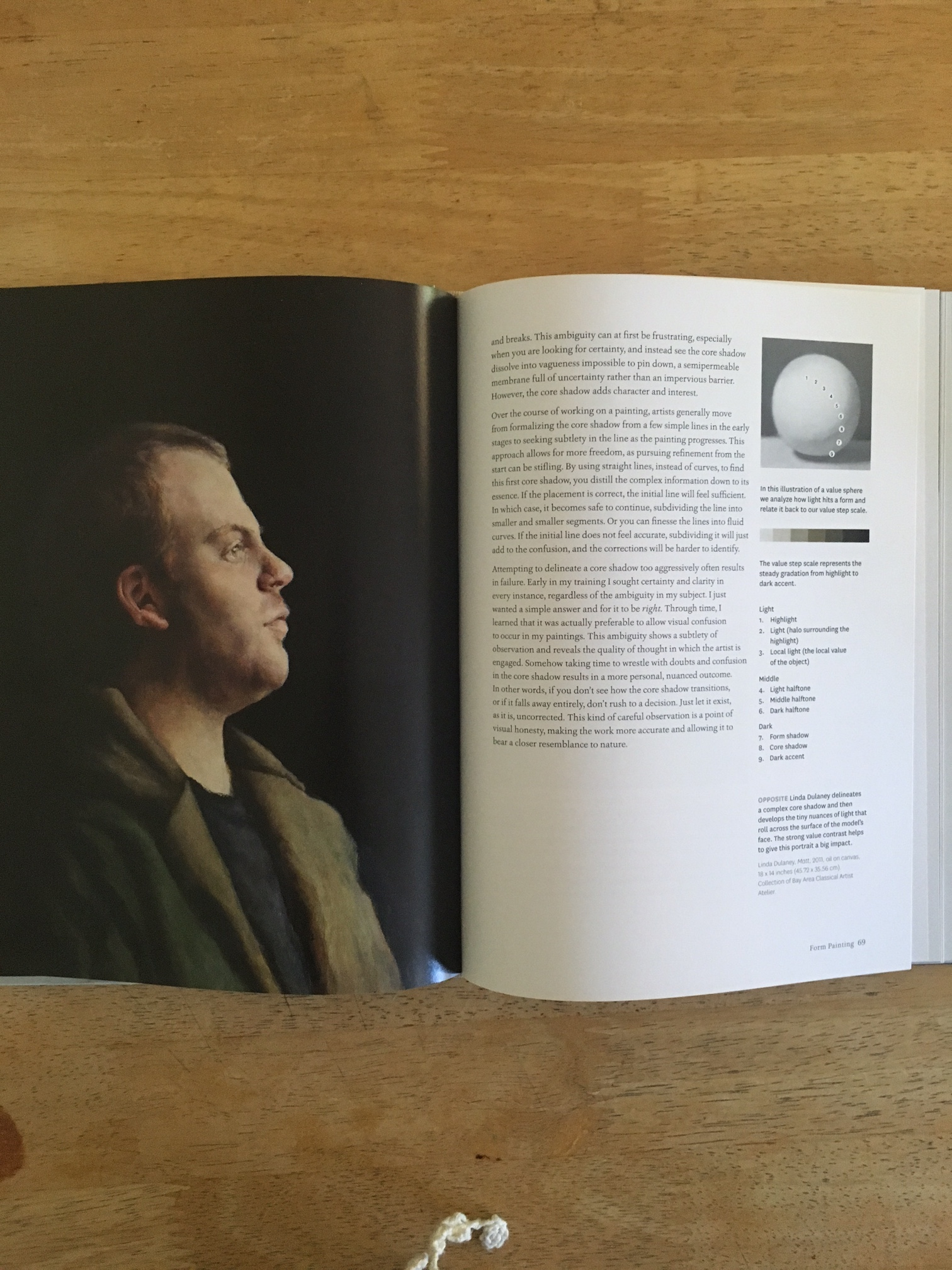 "Linda Dulaney's portrait of Matt was selected and published in a full page in Juliette Aristides Newly published book ""Lessons in Classical Painting""."