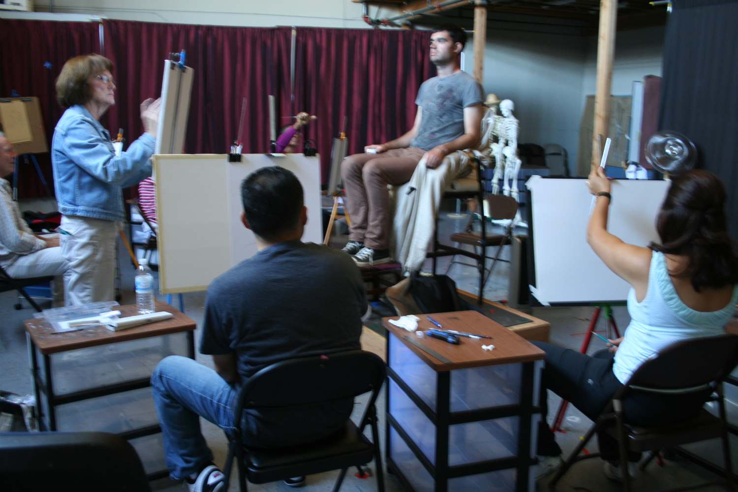 BACAA Portrait Painting Class