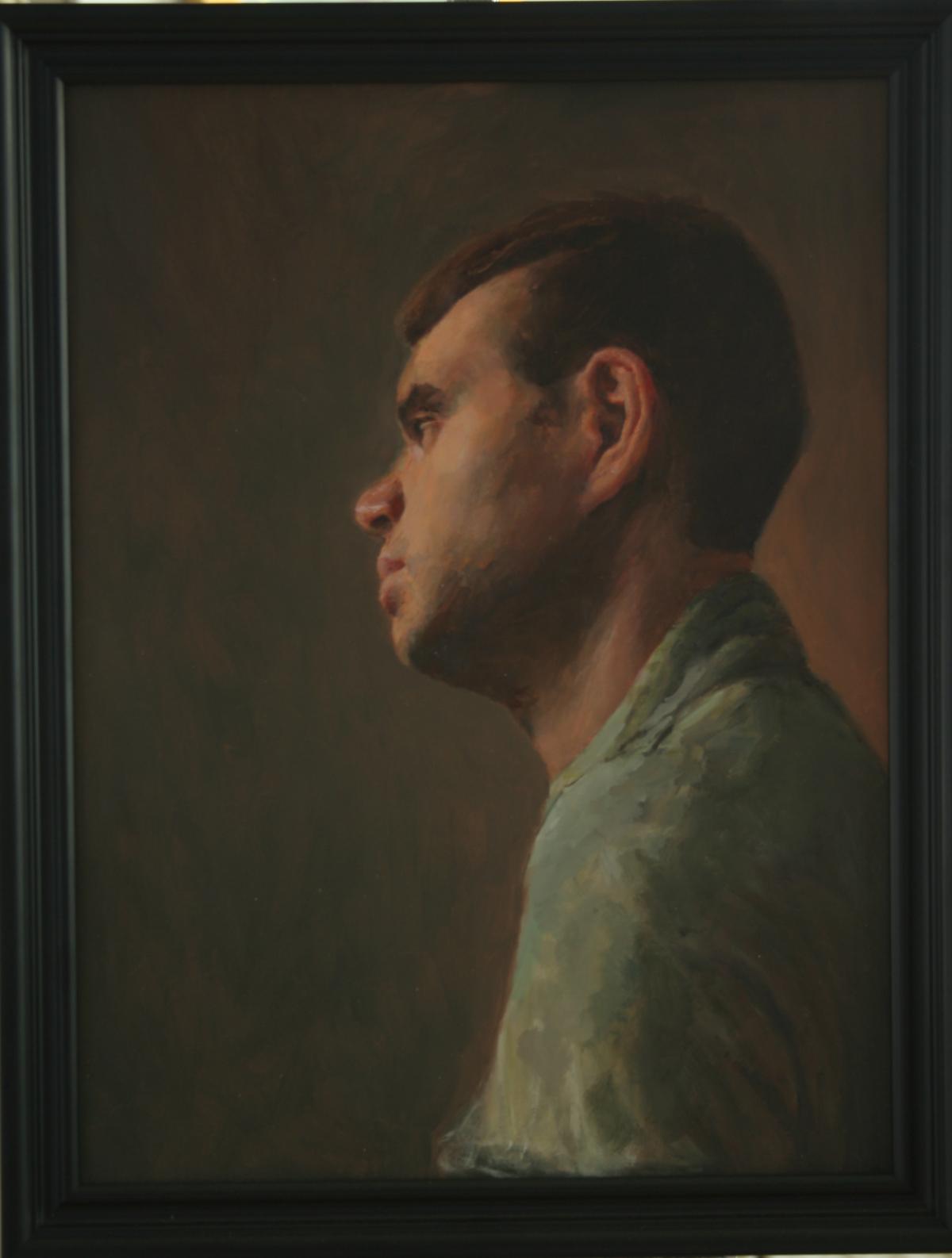 Linda's painting of David June 2013