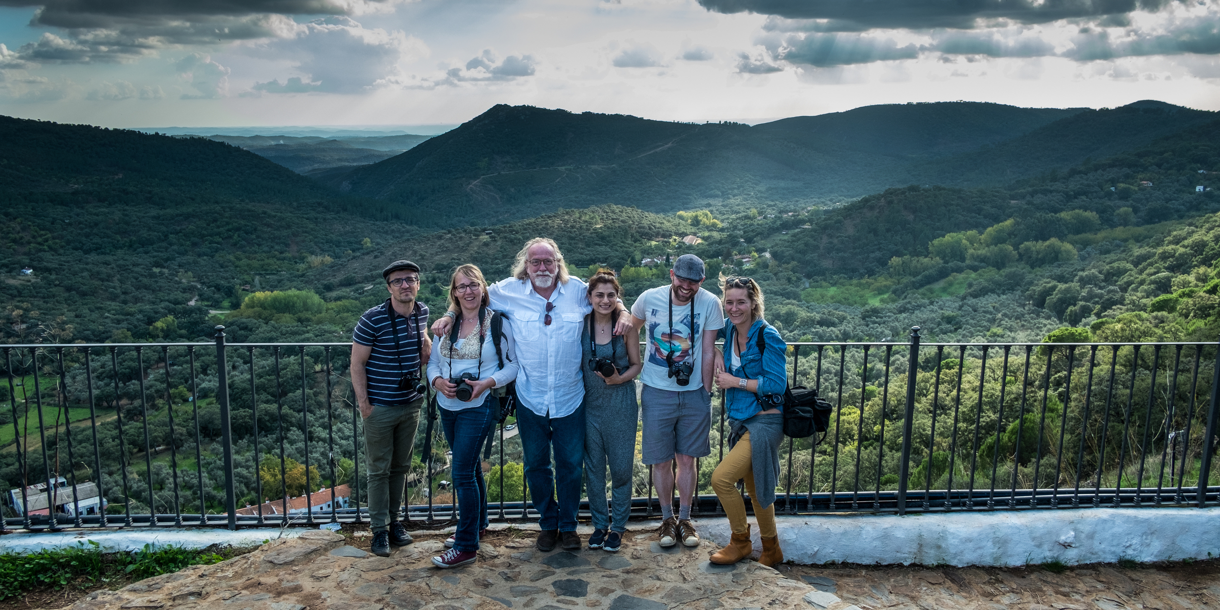 Tim Clinch with food and travel photography workshop participants in Andalucia, Spain