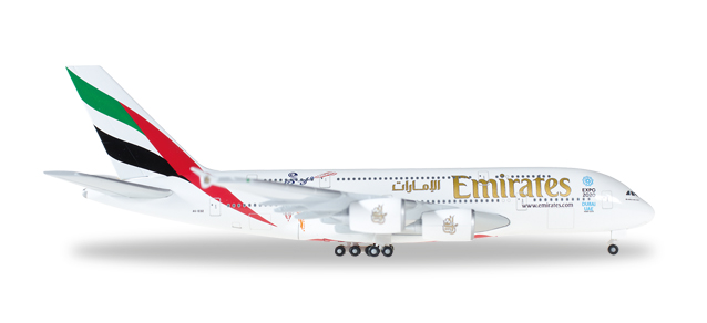 "527897    Airbus A380-800 ""Emirates, Cricket World"""
