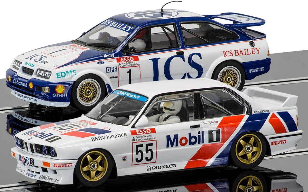 3693A  Touring Cars Legends: Ford Sierra RS500 vs BMW E30, Scalextric