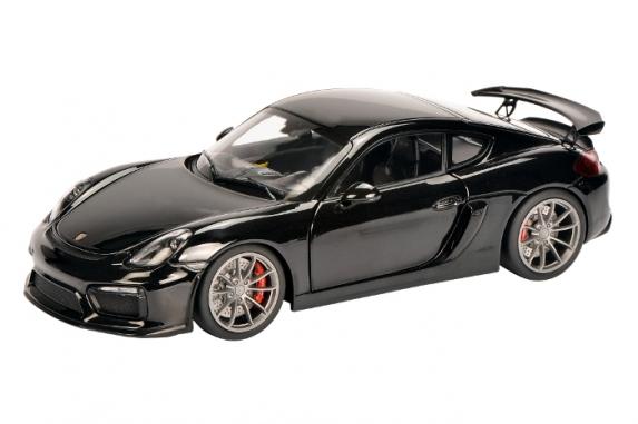 450040100  Porsche Cayman GT4, zwart, Schuco