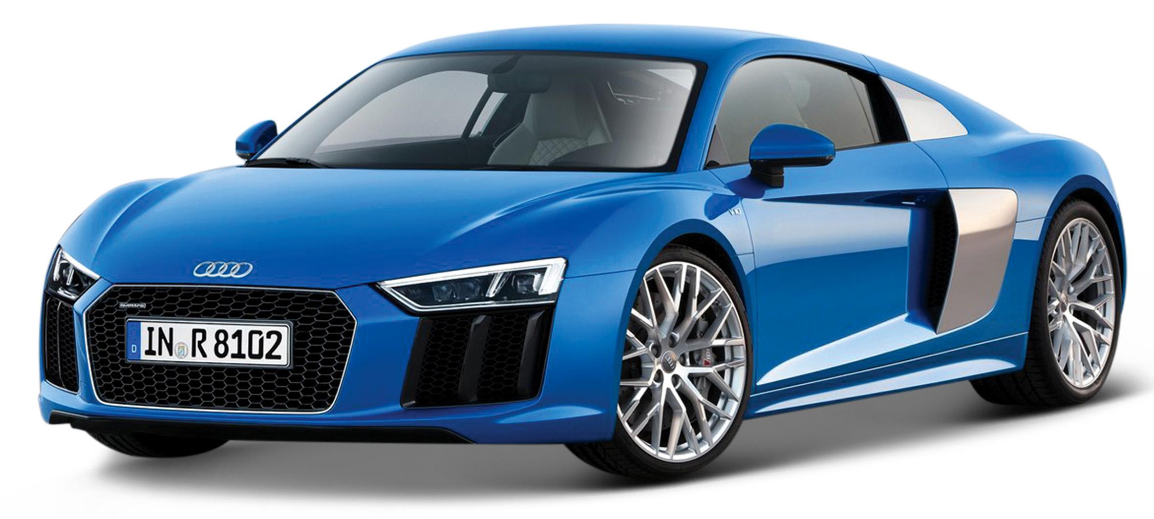 31513  Audi R8 V10 Plus, blauw, Maisto
