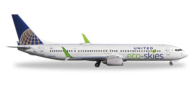 """529273  Boeing 737-900 """"United Eco-Skies"""""""