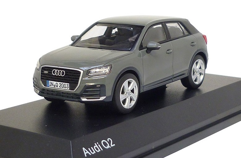 501.16.026.33  Audi Q2 2016, Quantumgrijs, Herpa