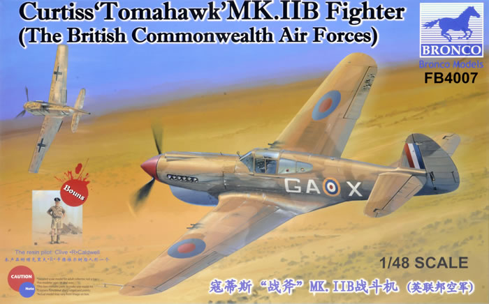 4007  Curtiss 'Tomahawk' Mk.IIb Fighter (The British Commonwealth Air Forces)