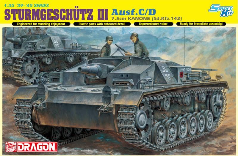 6851  Sturmgeschütz III Ausf.C/D 7.5cm Kanon (Sd.Kfz.142)