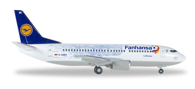 """529594  Boeing 737-300 """"Lufthansa, Fanhansa"""""""