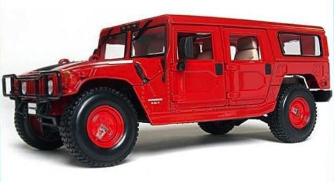 36858R  Hummer H1, rood, Maisto