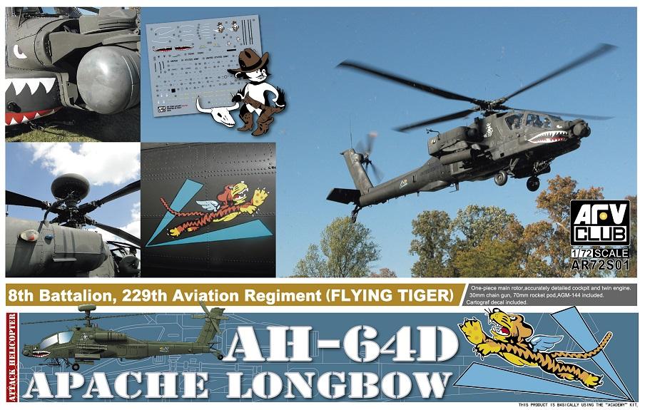 "72S01  AH-64D Apache Longbow ""8th Battalion, 229th Aviation Regiment (Flying Tiger)"""
