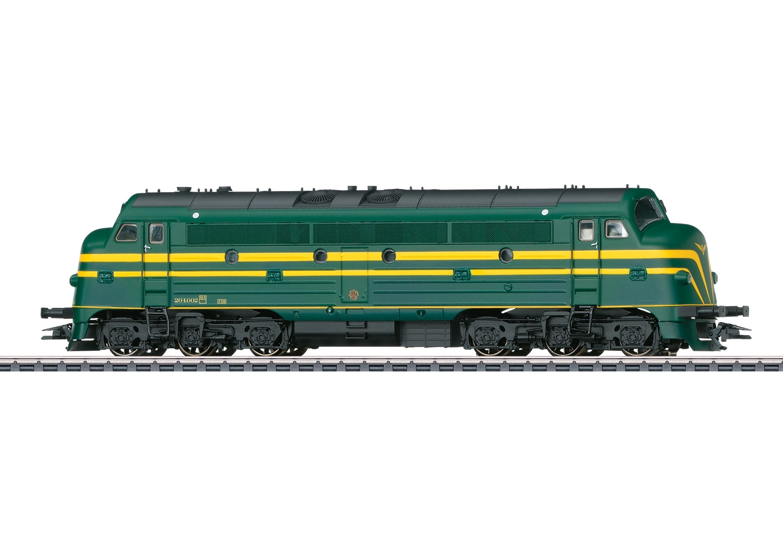 39676 : diesellok NOHAB reeks 204.002, met spaakwielen, tijdperk III.
