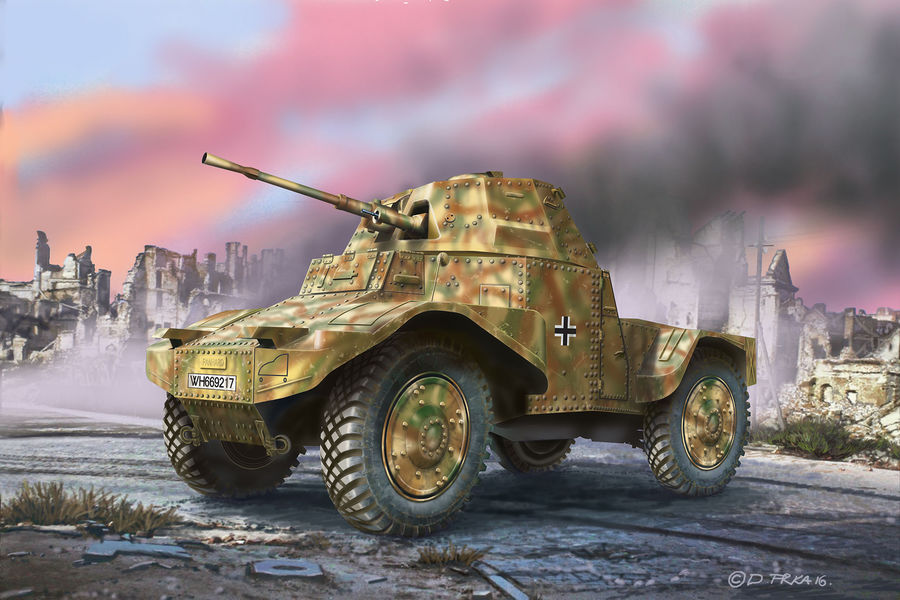 """3259  P 204 (f) """"Armoured Scout Vehicle"""""""