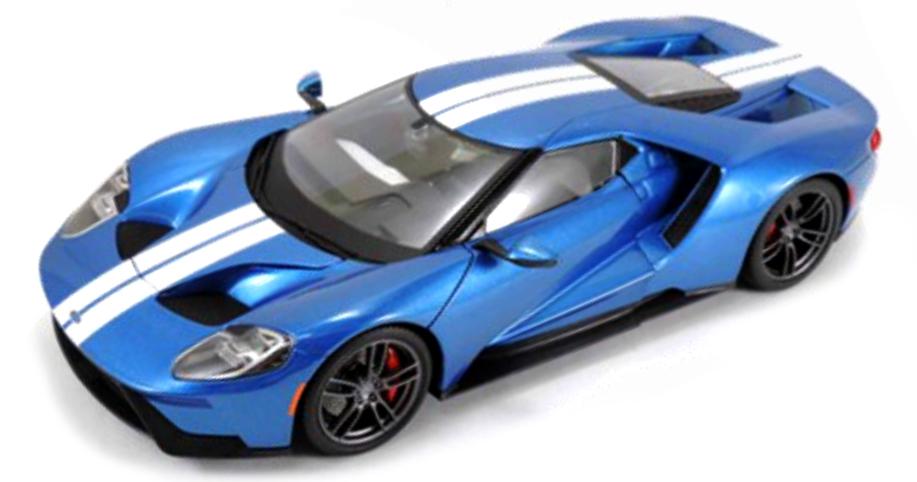 38134  Ford GT 2017, blauw, Maisto