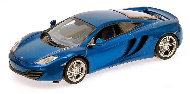 940133021  McLaren 12C 2011, met. blauw, Minichamps/Maxichamps