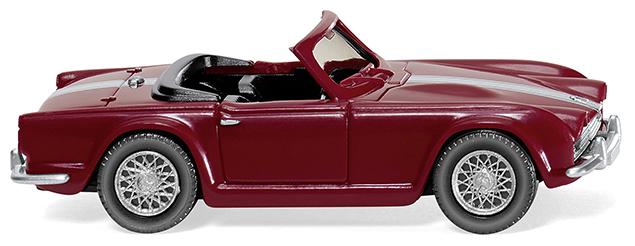 81505  Triumph TR4, donkerrood