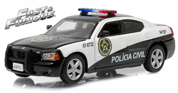 """86237  Sao Paulo Police 2006 Dodge Charger Pursuit """"The Fast & The Furious"""", Greenlight"""