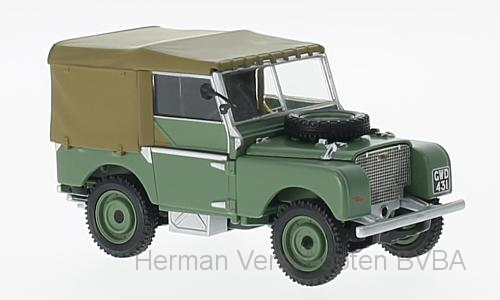 """VA11115  Land Rover Series 1 groen, """"The first to be Road registered"""", Corgi"""