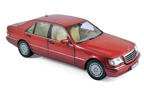 183579  Mercedes-Benz S500 1997, rood met., Norev