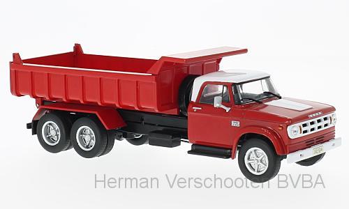 WB203  Dodge D 950, rood/wit, Whitebox