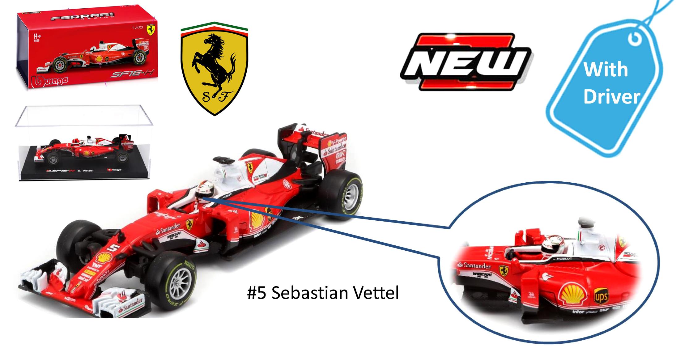 36804  Ferrari SF16-H F1 Vettel, Bburago