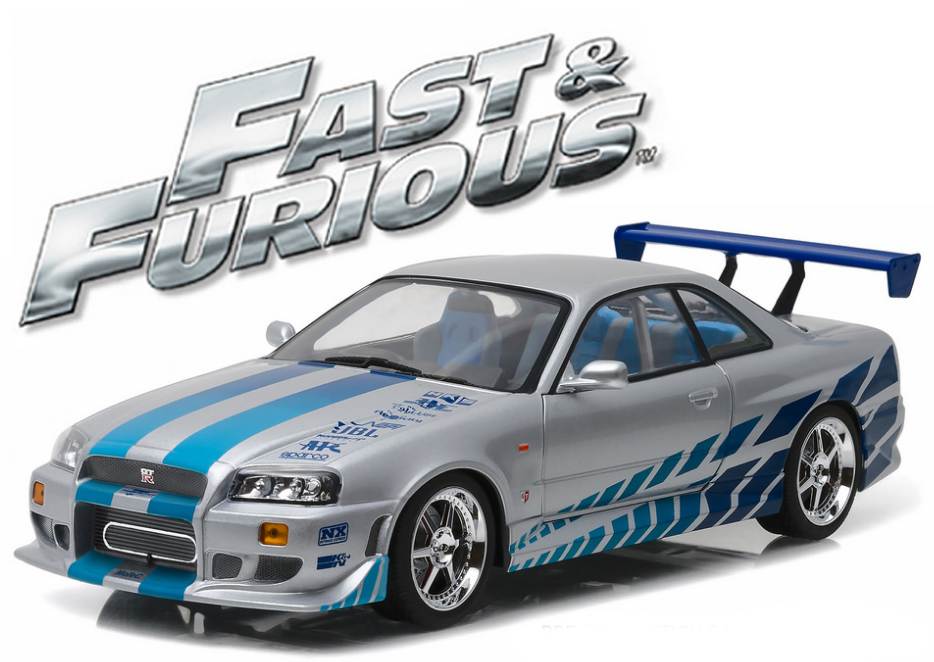 """19029  Brian's 1999 Nissan Skyline GT-R (R34) """"The Fast & The Furious"""", Greenlight"""