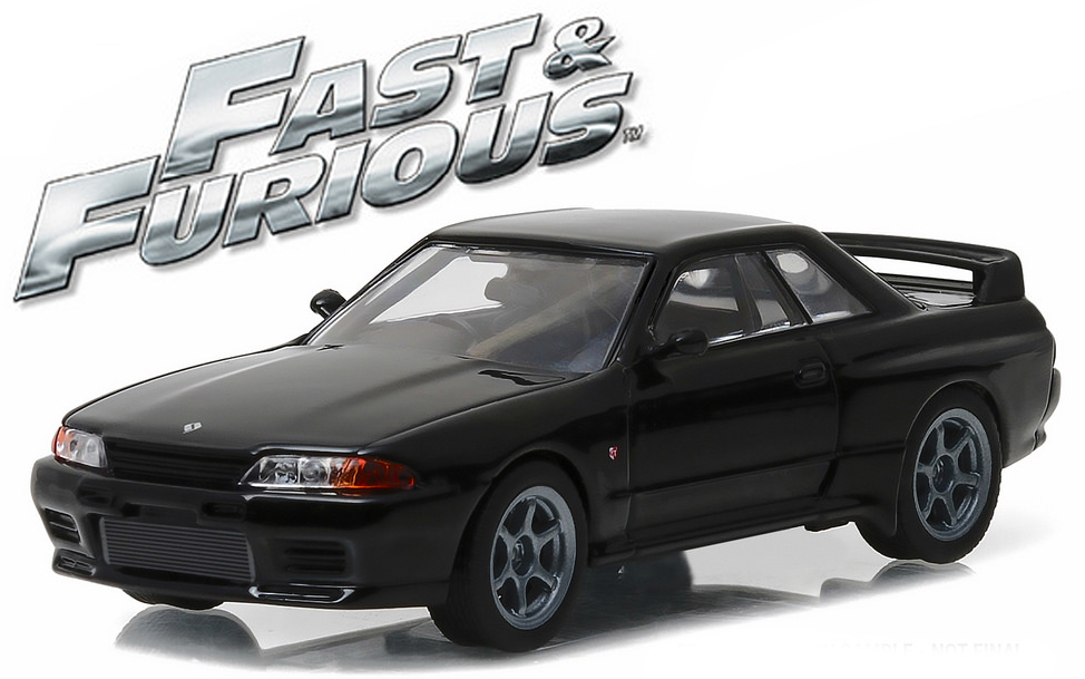 """86229  1989 Nissan Skyline GT-R (R32), """"The Fast & The Furious"""", Greenlight"""